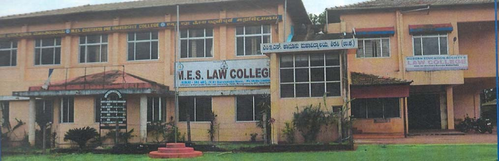 WELCOME TO M.E.S.LAW COLLEGE SIRSI